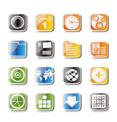 simple mobile phone and computer vector image vector image