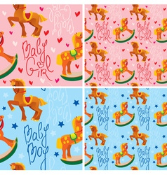 toys horses for kids vector image