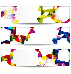 Abstract banner with forms of empty frames for vector image