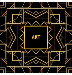 Abstract geometric art patterned background 1920s vector