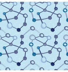 abstract seamless background molecule structure vector image