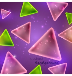 Abstract shiny background with triangle shapes vector