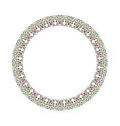 Abstract stone mosaic wreath - circular round vector