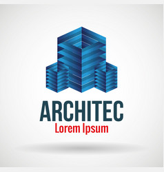 Architect emblem business icon vector