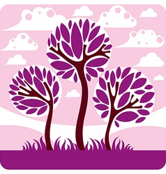 Art graphic of stylized branchy tree and pea vector