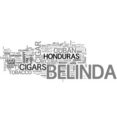 belinda cigars text word cloud concept vector image