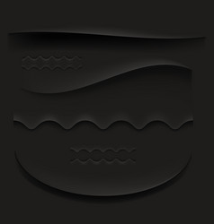 black curved paper shadow vector image