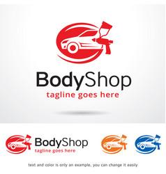 Body shop logo template vector