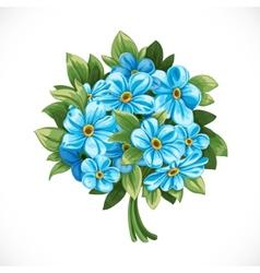 Bouquet blue forget-me-not vector