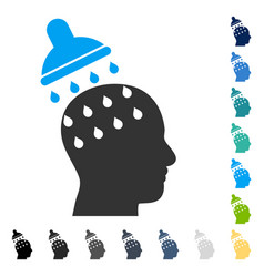 Brain washing icon vector