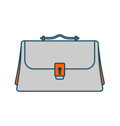 business briefcase isolated icon office suitcase vector image
