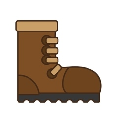 Cartoon industrial boot safety worker industrial vector