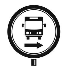 circle bus station sign icon simple style vector image