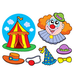 Circus clown collection vector