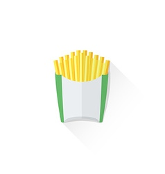 color french fries icon vector image