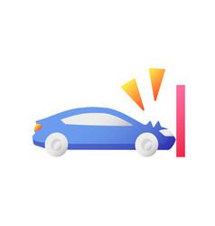 crash test flat color icon vector image