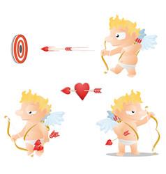 cupid actions vector image