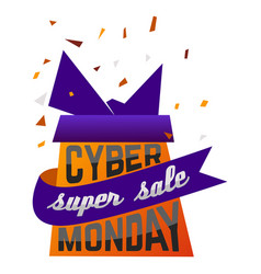 cyber monday super sale advertising festive poster vector image