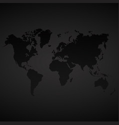 Blue dotted world map on black background vector image dark world map background vector image gumiabroncs Choice Image