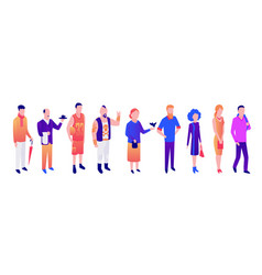 different people old young people men vector image