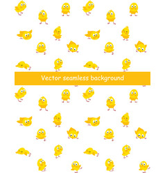 Easter seamless pattern with funny chicks vector