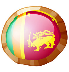 Flag of srilanka in round frame vector