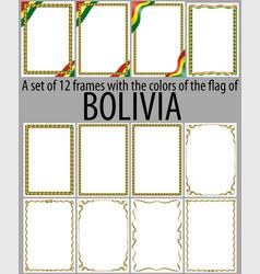 Flag v12 bolivia vector