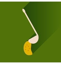 Flat with shadow Icon ladle soup on bright vector