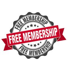 Free membership stamp sign seal vector