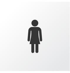 Gentlewoman icon symbol premium quality isolated vector