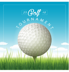 Golf tournament background vector