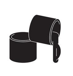 Grease lubricant black concept icon vector