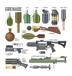 gun military weapon grenade-gun army vector image
