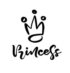 hand drawn symbol a stylized crown and vector image