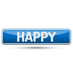 Happy - abstract beautiful button with text vector