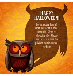 Happy halloween cute banner on the craft paper vector