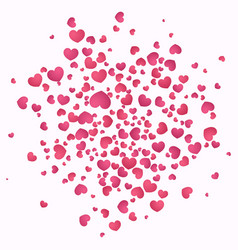 hearts burst background valentines day concept vector image