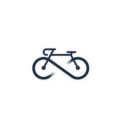 infinity bike logo icon design vector image