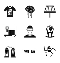 Innovative device icons set simple style vector
