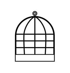 Iron cage black color icon vector