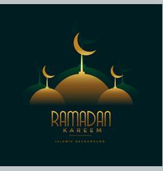 Islamic ramadan kareem festival greeting vector