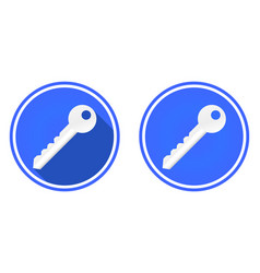 key round flat icon isolated on white background vector image