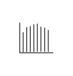 Line stats icon vector