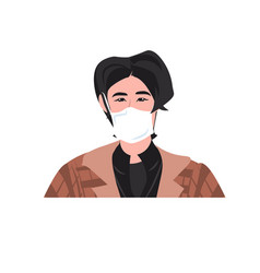 Man wearing mask to prevent epidemic mers-cov vector