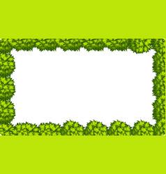 natural leaf border scene vector image