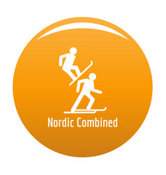nordic combined icon orange vector image