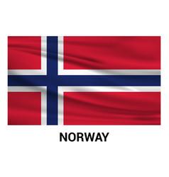 norway flag design vector image