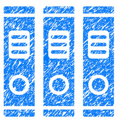 Office books grunge icon vector