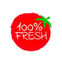 one single tomato shape isolated on white vector image