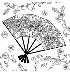 Oriental fan entangle vector
